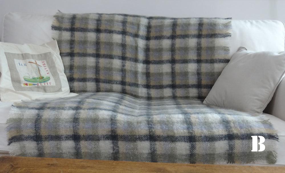 plaid mohair solde plaid mohair bleu ciel x cm plaid tricot chin flevo la redoute interieurs. Black Bedroom Furniture Sets. Home Design Ideas