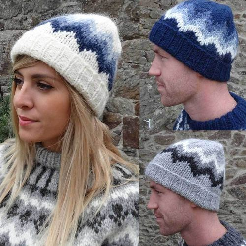 AKUREYN genuine hand knitted hat from ICELAND