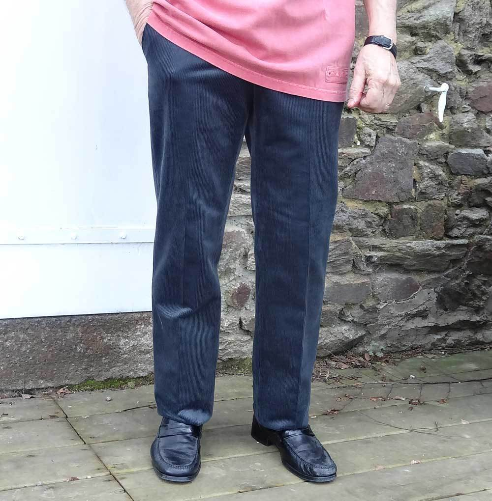 pantalon en velours cosserat lastique avec ceinture confort. Black Bedroom Furniture Sets. Home Design Ideas