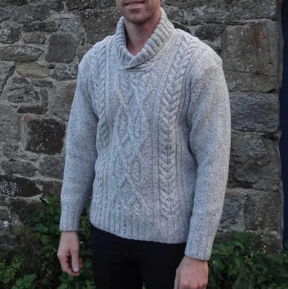 taille 40 3bb82 efa88 BELFAST LUXE - A472S IRELANDSEYE pull Irlandais laine cachemire