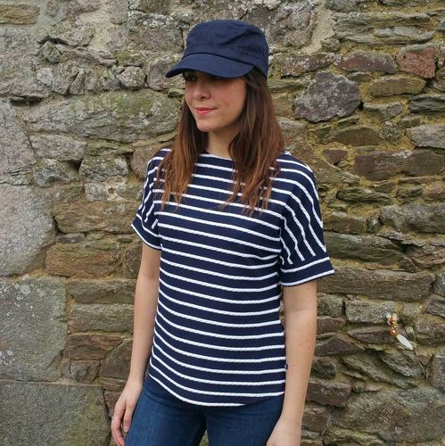 LEVANT boat neck women mariner shirt ROYAL MER