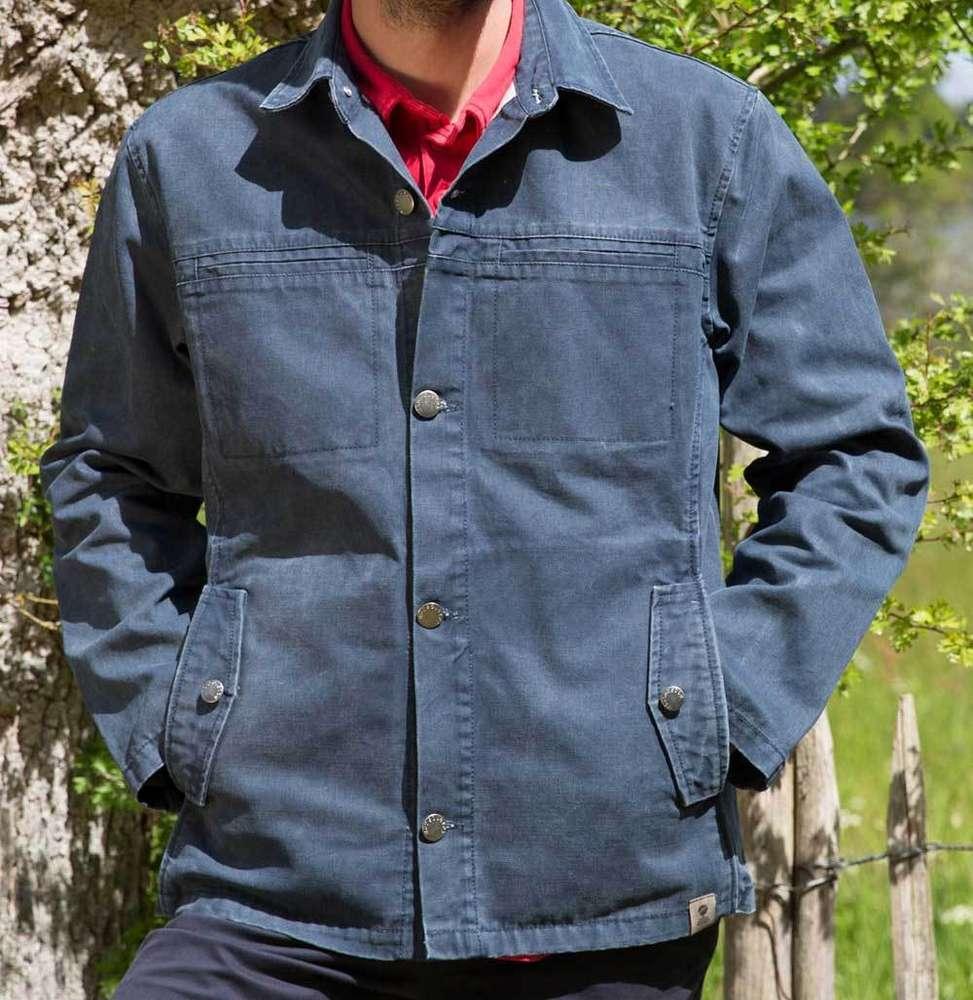 pas cher pour réduction 12dc2 e7531 TRIMARAN - veste MOUSQUETON en toile canevas droite boutonnée