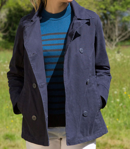 LOUDEAC, Mousqueton women cotton  pea coat.