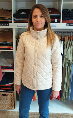 DOLO - MOUSQUETON - women quilted tailored jacket CHALK