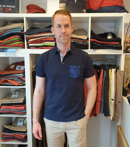 MAILLON - MAT DE MISAINE - short sleeves polo shirt with pocket
