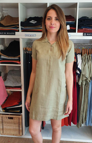 GRAZIA - MOUSQUETON - linen flared dress with smock style top