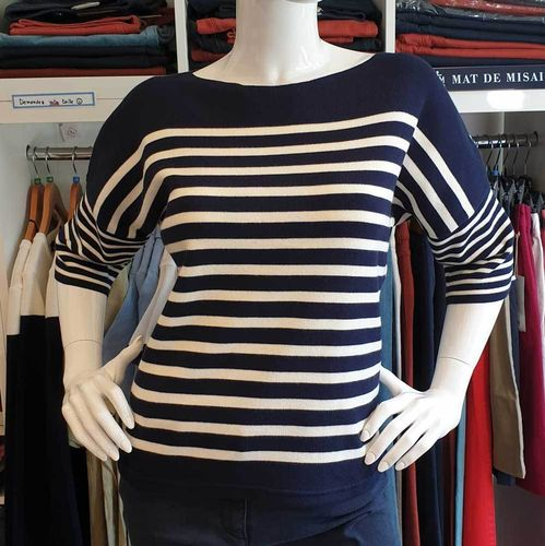 PONANT - ROYAL MER - boat neck T shape breton shirt