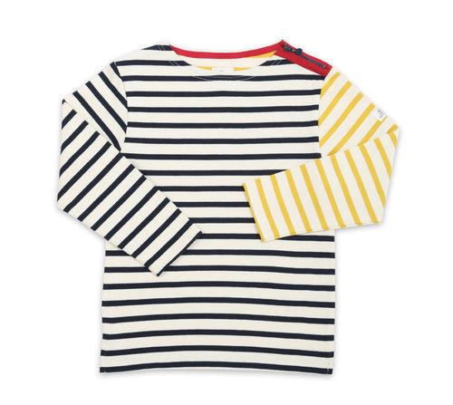 MARJAN KID - Mousqueton clothing - multi colors breton shirt