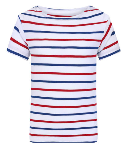 MATELY KID - Mousqueton vêtements - Marinière enfant BLANC/ROYAL