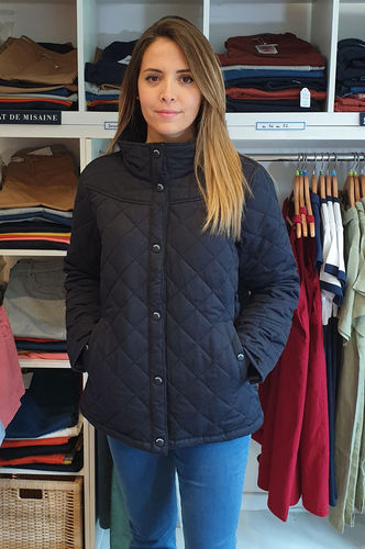 DOLO - MOUSQUETON - women quilted tailored jacket NAVY