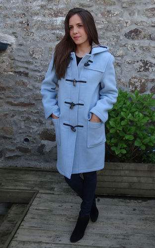DUFFLE COAT LONDON TRADITION EMILY - VERITABLE DUFFLE COAT ANGLAIS CIEL