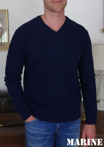 LOGMORE - A723 IRELANDSEYE - PULL LAMBSWOOL HOMME COL V - MARINE