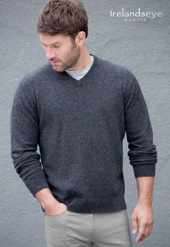 LOGMORE - A723 IRELANDSEYE - PULL LAMBSWOOL HOMME COL V MARINE