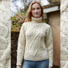 Pull Irlandais femme col roulé ARANCRAFT - R2080 - DONEGAL-INCH- NATURAL
