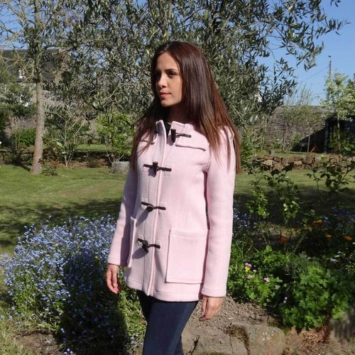 Duffle coat GLOVERALL Pure Laine CHEVRONS 100% LAINE ROSE
