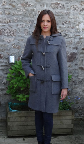 Duffle coat LONDON TRADITION - EMILY VERITABLE DUFFLE COAT ANGLAIS GRIS