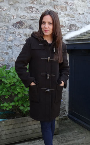 Duffle coat LONDON TRADITION - EMILY VERITABLE DUFFLE COAT ANGLAIS CHOCOLAT