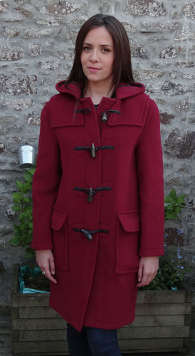 Duffle coat LONDON TRADITION - EMILY VERITABLE DUFFLE COAT ANGLAIS BORDEAUX