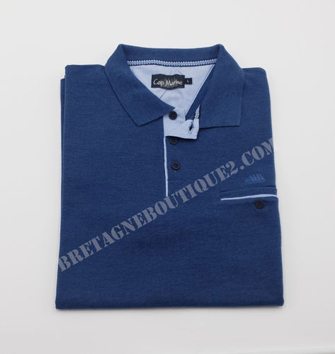 YSER cap marine unisex pique polo shirt 50/50 medium w. cotton