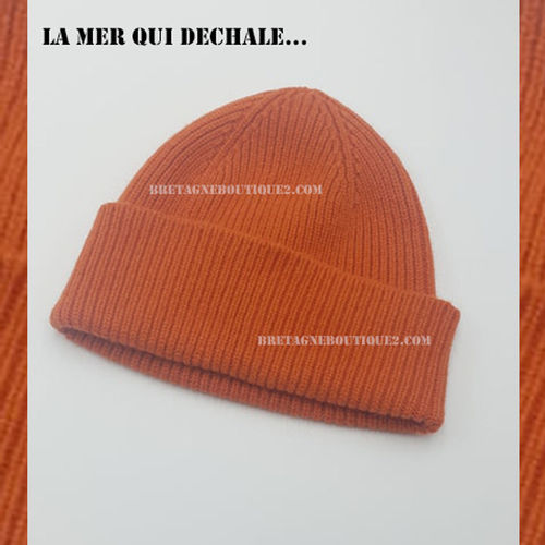 BONNET DOCKER mixte - Bonnet doux écossais 25% Angora ORANGE