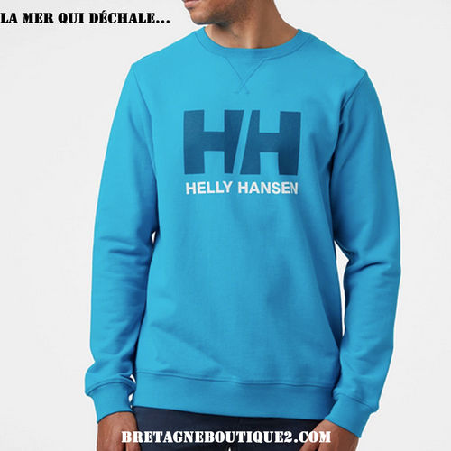 PULL COL ROND HELLY HANSEN HH LOGO CREW SWEAT CARIBBEAN SEA